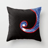 nightmare Throw Pillows featuring Nightmare by xzwillingex