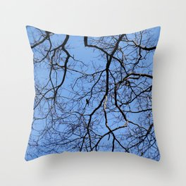 Bird in the Tree Throw Pillow