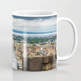 View of Edinburgh, Scotland from Edinburgh Castle Coffee Mug