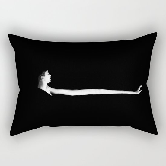 Touching From a Distance Rectangular Pillow