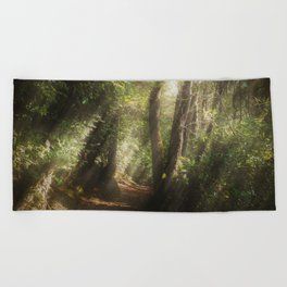 Lost In the Light Beach Towel