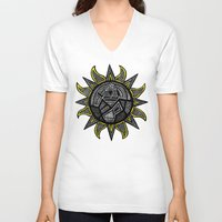 sunshine V-neck T-shirts featuring Sunshine by Lauren Moore