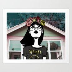 90's Revival Girl Art Print