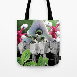 I Wonder What the Headline is Today? Tote Bag