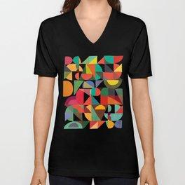 Color Blocks Unisex V-Neck