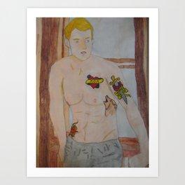 Steve Rogers - Tattoo Art Print