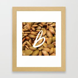 Recettes du Bonheur - foodies Framed Art Print