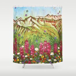 Alyeska Fireweed Shower Curtain