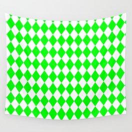 Diamonds (Green/White) Wall Tapestry