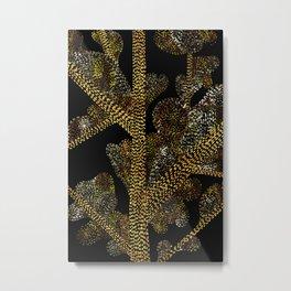 glowing golden swirly tree Metal Print