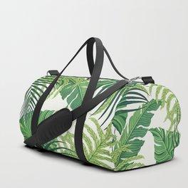 Green tropical leaves II Duffle Bag