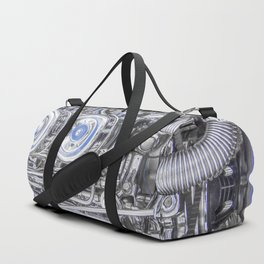Hot Rod Blue, Automotive Art with Lots of Chrome by Murray Bolesta Duffle Bag
