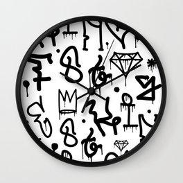 Diamonds & Crowns Wall Clock