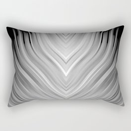 stripes wave pattern 3 bwgr Rectangular Pillow
