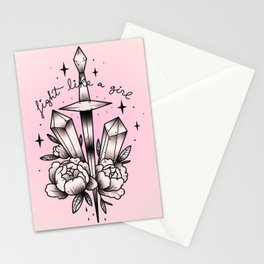 Fight like a Girl Stationery Cards