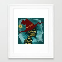 discworld Framed Art Prints featuring Rincewind by Sator_