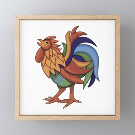 Colorful Rooster Framed Mini Art Print