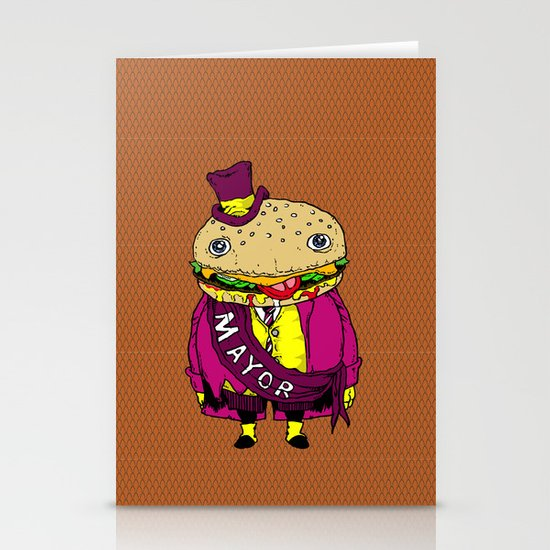 the mayor Stationery Cards