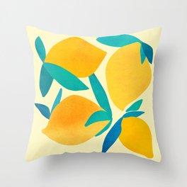 Mangoes - Tropical Fruit Illustration Throw Pillow
