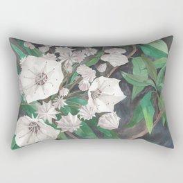 Mountain Laurel Flowering Spring Rectangular Pillow