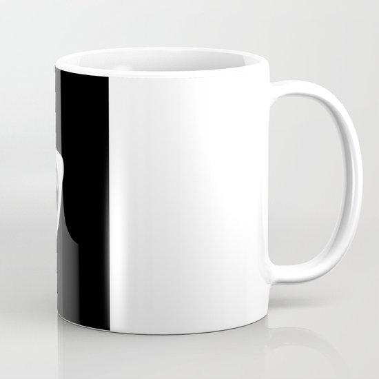 Diamond Eyes White on Black Mug