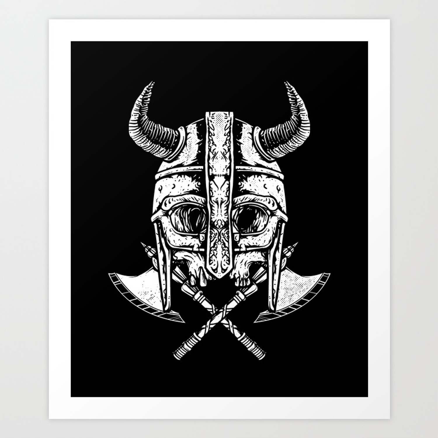 Death viking art print
