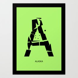 Letter A - typography poster Art Print