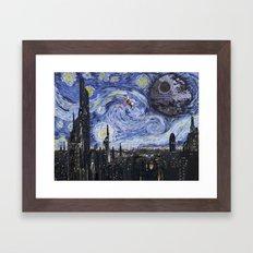 A Starry Wars Night Framed Art Print