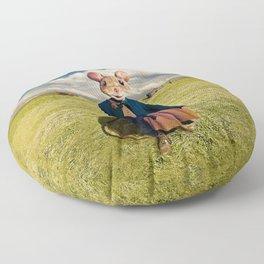 Little Mouse on the Prairie Floor Pillow