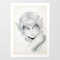 elf Art Prints featuring Elf by Alapapaju