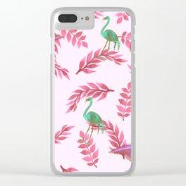 Flamingo rose Clear iPhone Case