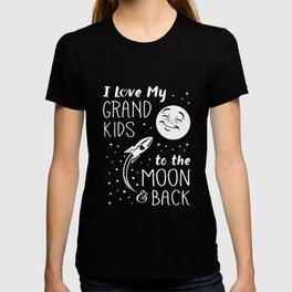 I lovd my grand kids to the moon and back grandma T-shirt