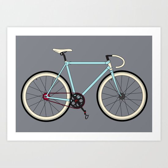 Classic Road Bike Art Print