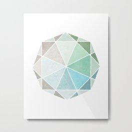 Polygones Metal Print