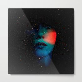 Cosmic Face in the Infinite Universe Metal Print