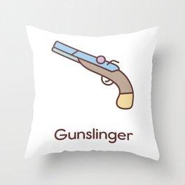 Cute Dungeons and Dragons Gunslinger class Throw Pillow