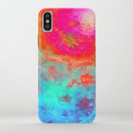 Galaxy : Bright Colorful Nebula iPhone Case