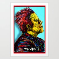 tom waits Art Prints featuring Tom Waits by Alec Goss