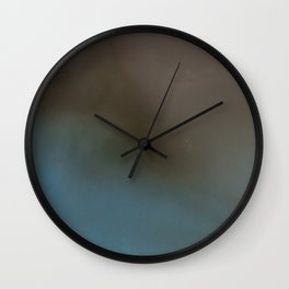 Abstract Alcohol Ink 5639 Brown Blue Combo Wall Clock