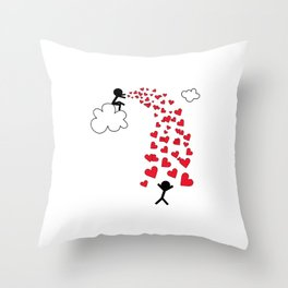 Love from the sky by Oliver Henggeler Throw Pillow