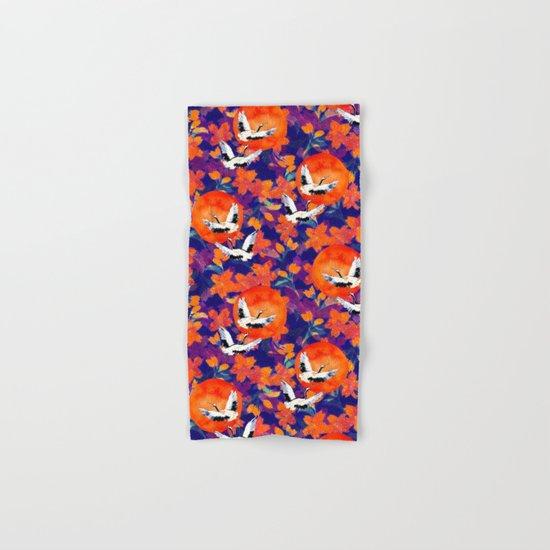 Japanese Garden: Cranes, Sun and Blossoms DK Hand & Bath Towel