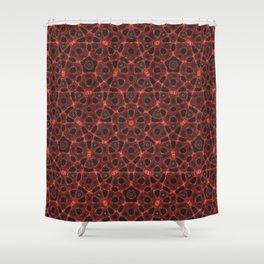 Blood Mandala Shower Curtain