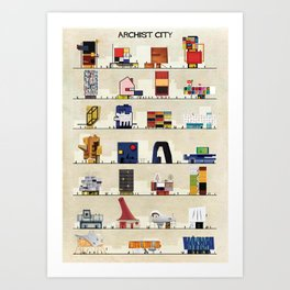 archist city Kunstdrucke