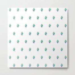 Peacock Pattern_F01 Metal Print