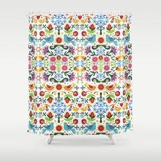 flower folk art Shower Curtain
