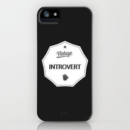 Vintage Introvert iPhone Case