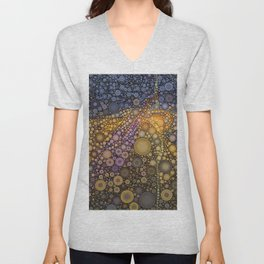 Deep Roots Abstract Unisex V-Neck