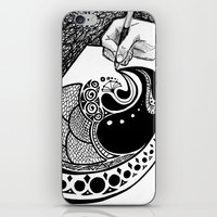 doodle iPhone & iPod Skins featuring Doodle by ALT Illustration