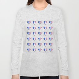 Parody of the french flag 3-France,Paris, pink, Marseille, lyon, Bordeaux,love, girly,fun,idyll,Nice Long Sleeve T-shirt