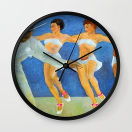 African American Masterpiece - Harlem Jazz - Pursuit of Happiness by Vartis Hayes Wall Clock